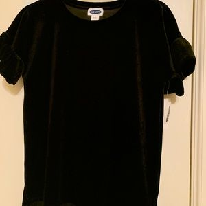 Black Crushed Velvet Tee